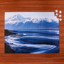 Puzzle galerie photo personnalisé 70 ou 252 ou 500 pièces 45,72 x 60,96 cm
