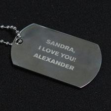 Pendentif plaque militaire message personnalisé gravé