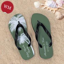 Créez mes propres sandales tongs personnalisées mariage palmier femmes moyen