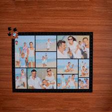 Puzzle photo noir dix collage  45,72 x 60,96 cm