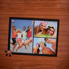 Puzzle photo noir trois collage  45,72 x 60,96 cm