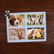 Puzzle photo bleu ciel quatre collage 45,72 x 60,96 cm