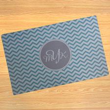 Créez votre propre paillasson chevron turquoise personnalisé
