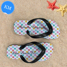 Concevoir mes propres sandales tongs points moderne avec nom personnalisé, enfants moyen