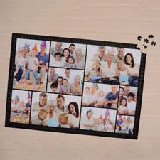 Puzzle personnalisé noir dix collage 1000 pièces 50,16 x 71,12 cm