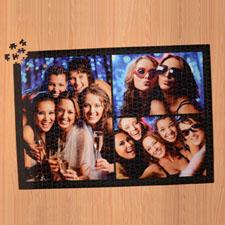 Puzzle personnalisé noir trois collage 1000 pièces 50,16 x 71,12 cm