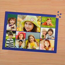 Puzzle personnalisé bleu marine neuf collage 1000 pièces 50,16 x 71,12 cm