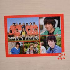 Puzzle personnalisé orange cinq collage 1000 pièces 50,16 x 71,12 cm