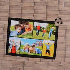 Puzzle personnalisé noir cinq collage 1000 pièces 50,16 x 71,12 cm