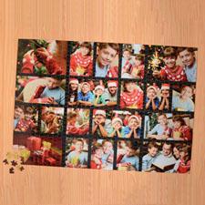 Puzzle personnalisé noir vingt collage 1000 pièces 50,16 x 71,12 cm