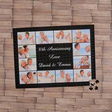 Puzzle personnalisé noir douze collage 1000 pièces 50,16 x 71,12 cm