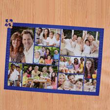 Puzzle personnalisé bleu marine dix collage 1000 pièces 50,16 x 71,12 cm