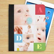 Étui folio personnalisé couleur champ de texte & sept collage