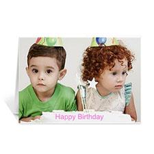 Cartes photo personnalisées Joyeux anniversaire, paysage pliées 12,7 x 17,78 cm