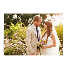 Cartes photo mariage personnalisées, paysage plié 12,7 x 17,78 cm