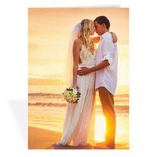 Cartes photo mariage personnalisées, portrait plié 12,7 x 17,78 cm