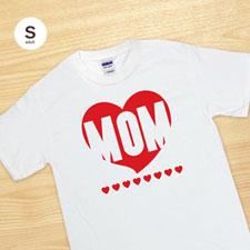 T-shirt impression personnalisée coeur rouge maman adulte petit