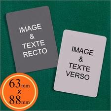 63 x 88 mm Cartes personnalisées (cartes vierges)