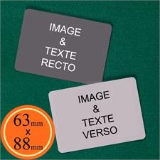 63 x 88 mm Cartes personnalisées (cartes vierges) paysage