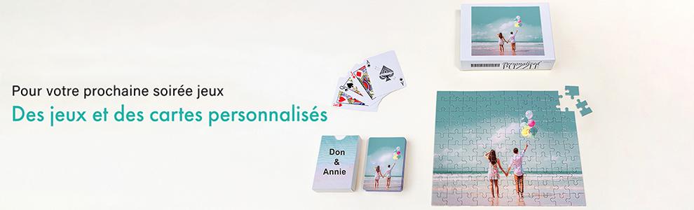 Cartes à jouer, cartes de jeu et puzzles personnalisés