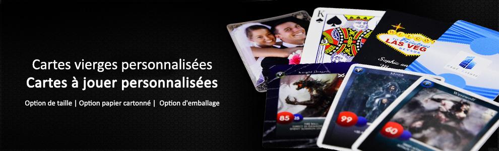 Cartes de jeu et cartes à jouer personnalisées