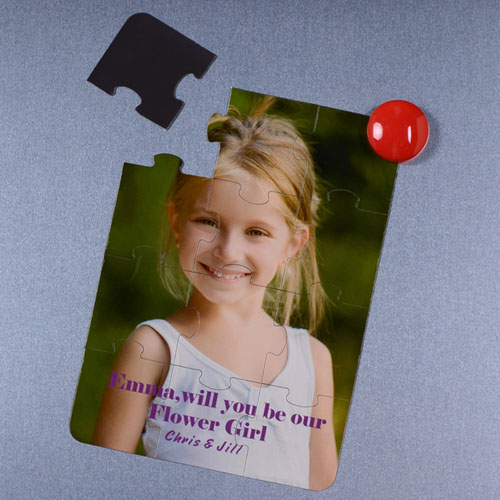 Invitation puzzle personnalisée magnétique Veux-tu être ma bouquetière