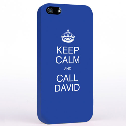 Personalized Blue Keep Calm iPhone Case