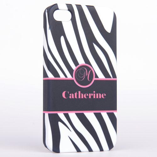 Personalized Zebra Pattern Monogrammedmed iPhone 5 Case