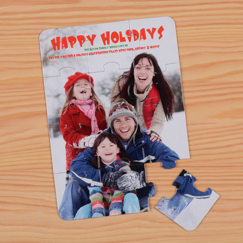 Invitation puzzle personnalisée Noël