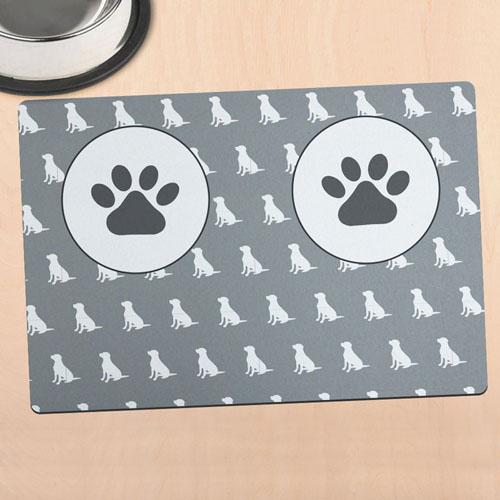 Tapis de bol de chien personnalisé
