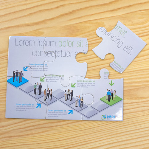 Puzzle personnalisé carton pleine couleur 12,7 x 17,78 cm