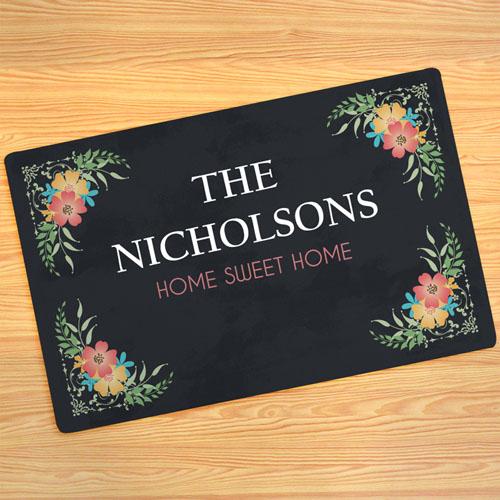 Paillasson personnalisé la douceur du foyer, 43,18 x 68,58 cm