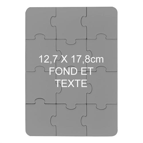 Puzzle magnétique personnalisé  12,7 x 17,78 cm 12 pièces