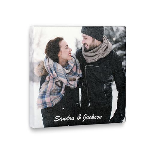 Impression photo sur toile imprimée personnalisée 20,32 x 20,32 cm