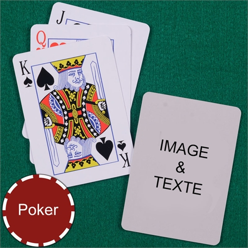 Cartes à jouer poker personnalisées index standard